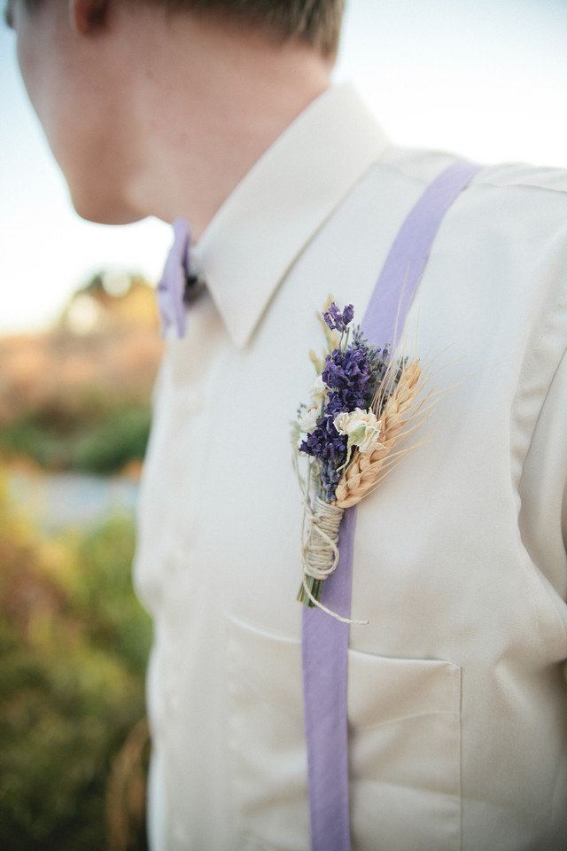 Wildflower wedding boutonniere or corsage of lavender paula jeans wildflower wedding boutonniere or corsage of lavender junglespirit Images